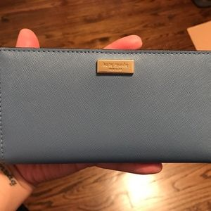 Kate Spade blue Stacy wallet